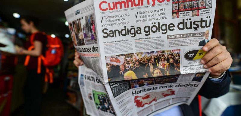 Freiheit für Cumhuriyet, Freiheit für alle türkischen Journalisten!