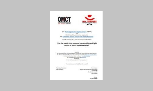 9 novembre – RSF à l'OMCT
