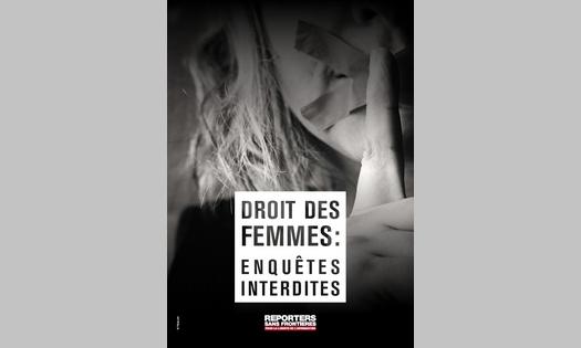 """RSF révèle les """"enquêtes interdites"""" sur les droits des femmes"""