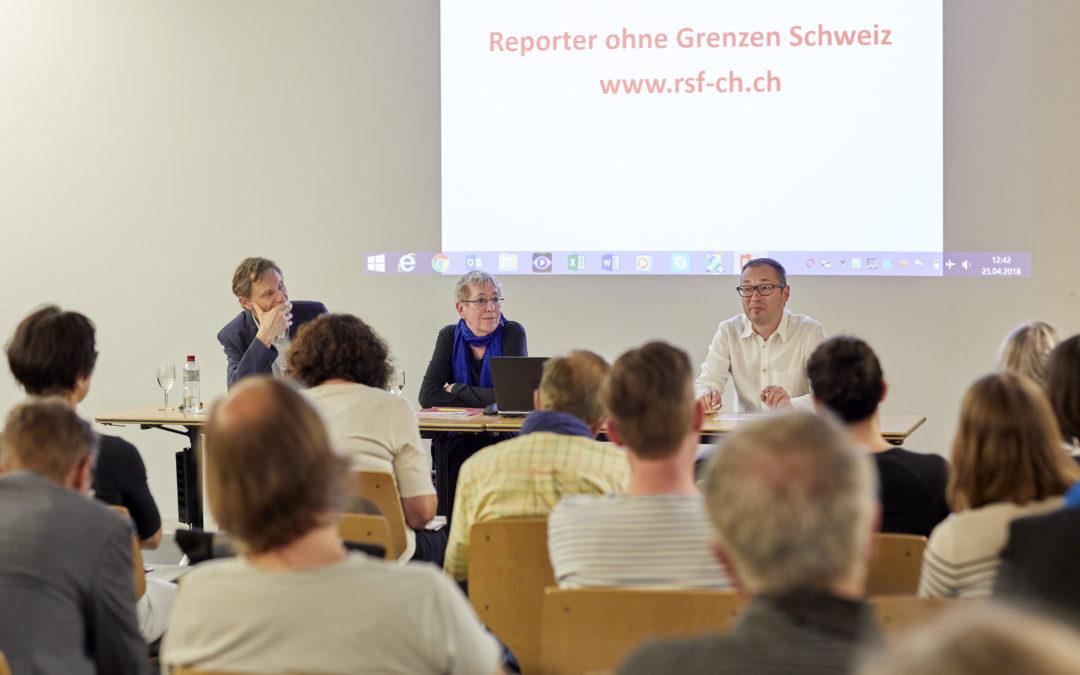 25. April: ROG-Veranstaltung in Zürich zur Rangliste der Pressefreiheit und zur Situation in Osteuropa