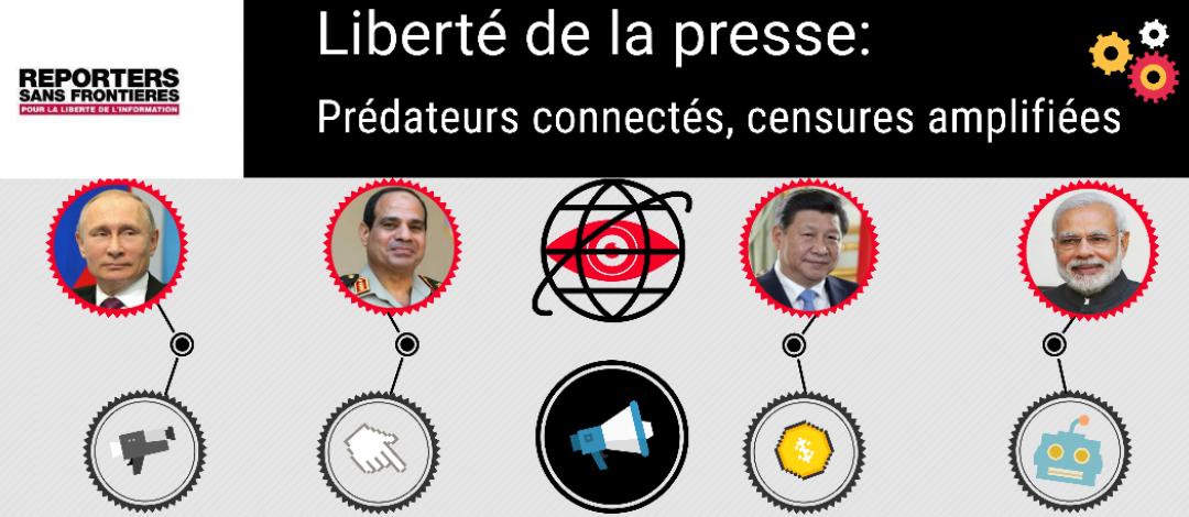 Désinformation, amplification, intimidation : comment les prédateurs  de la liberté de la presse opèrent sur internet