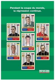 """""""Pendant la Coupe du Monde, la répression continue"""" : la campagne de RSF sur la Russie"""