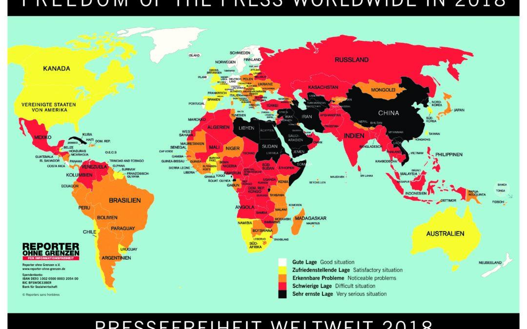 Veranstaltung zur Rangliste der Pressefreiheit 2019 von Reporter ohne Grenzen