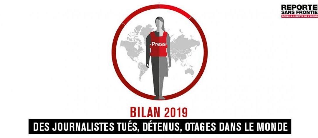 """Bilan RSF 2019 : un nombre """"historiquement bas"""" de journalistes tués"""
