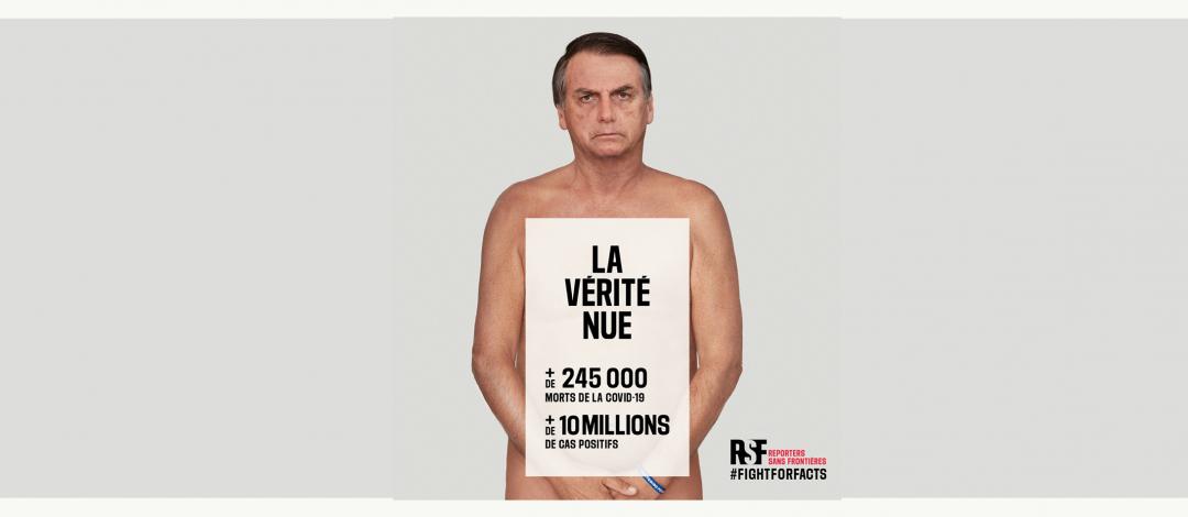 """""""La vérité nue"""" : RSF lance une nouvelle campagne au Brésil pour défendre l'information fiable"""