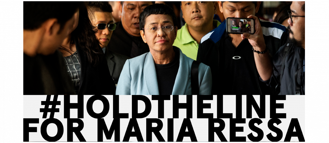 #HoldTheLine: Solidarität mit der philippinischen Journalistin Maria Ressa