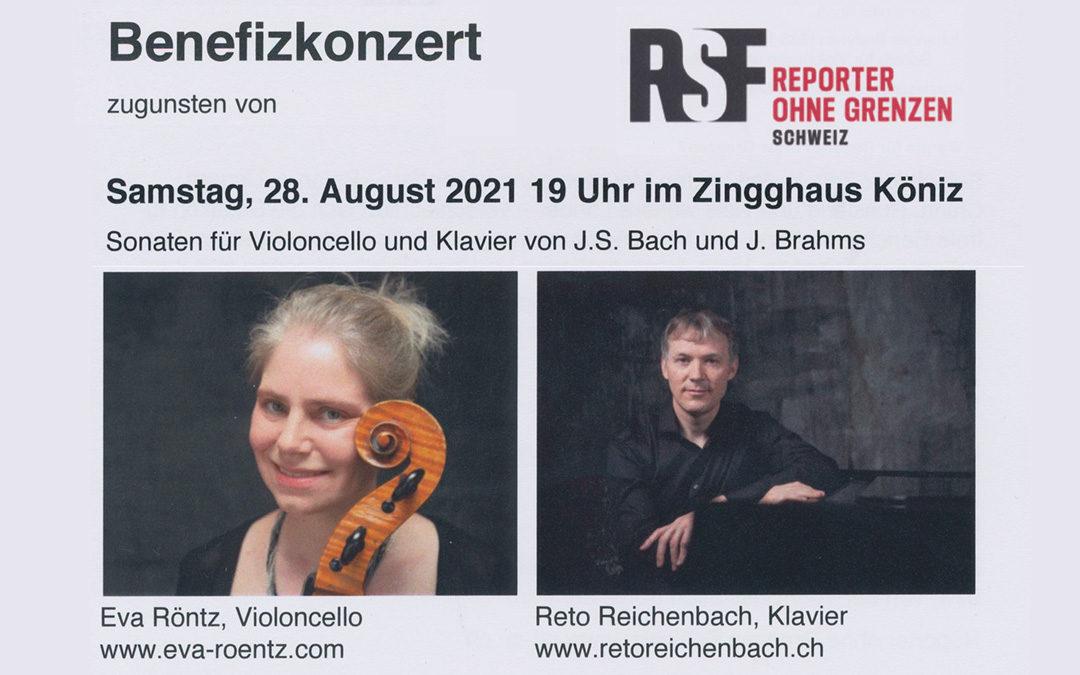 Benefizkonzert mit Lesung für RSF Schweiz